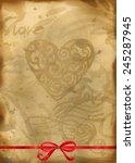 Valentines Day. Love Heart  Re...