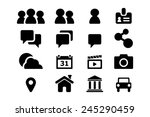 blog and social media icons for ... | Shutterstock .eps vector #245290459