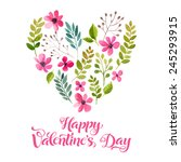 vector illustration of flowers... | Shutterstock .eps vector #245293915