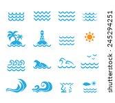 sea icon | Shutterstock .eps vector #245294251