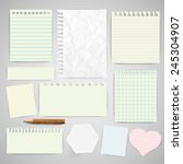 business paper labels for... | Shutterstock .eps vector #245304907