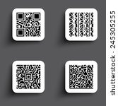 icons simple qr code | Shutterstock . vector #245305255