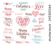 vector valentine's day set of... | Shutterstock .eps vector #245305264