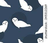 baby seal seamless pattern | Shutterstock .eps vector #245312269