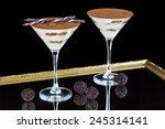 beautiful tiramisu served in a... | Shutterstock . vector #245314141