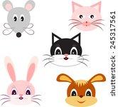 isolated animal vectors  animal ...   Shutterstock .eps vector #245317561