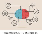 left   right human brain... | Shutterstock .eps vector #245320111