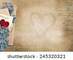 vintage  background i love you... | Shutterstock . vector #245320321