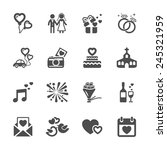 wedding icon set  vector eps10. | Shutterstock .eps vector #245321959