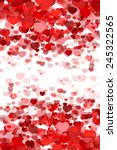 valentine's day background with ... | Shutterstock .eps vector #245322565