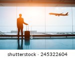 waiting in the airport | Shutterstock . vector #245322604