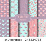 set of heart patterns  doodle... | Shutterstock .eps vector #245324785