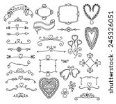 ornate frames and hearts... | Shutterstock .eps vector #245326051