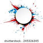 round paper note over colorful...   Shutterstock .eps vector #245326345