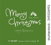 merry christmas   vector  ...   Shutterstock .eps vector #245326951