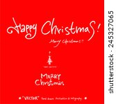 merry christmas   vector  ... | Shutterstock .eps vector #245327065