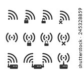 set of clear wifi icons. these... | Shutterstock .eps vector #245328859