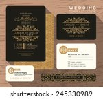 vintage classic wedding... | Shutterstock .eps vector #245330989