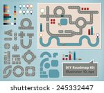 road map design elements  set... | Shutterstock .eps vector #245332447