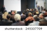 conference meeting background.... | Shutterstock . vector #245337709