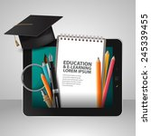 vector education school... | Shutterstock .eps vector #245339455