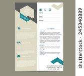 resume template   Shutterstock .eps vector #245340889