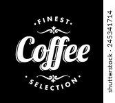 coffee background on chalkboard   Shutterstock .eps vector #245341714