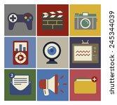 social media funky internet... | Shutterstock .eps vector #245344039