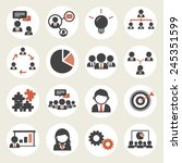 teamwork organization support... | Shutterstock .eps vector #245351599