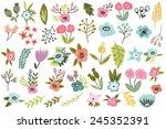 vector big amazing set of... | Shutterstock .eps vector #245352391