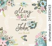 cute wedding invitation or... | Shutterstock .eps vector #245352415