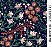 vector floral seamless pattern... | Shutterstock .eps vector #245355514