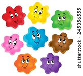cartoon color shapes collection ... | Shutterstock .eps vector #245356555