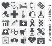 healthcare health medicine... | Shutterstock .eps vector #245356741
