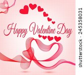 abstract happy valentine day... | Shutterstock . vector #245358031