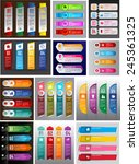 colorful modern text box... | Shutterstock .eps vector #245361325