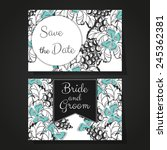 wedding invitation cards with... | Shutterstock . vector #245362381