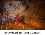 bagan  myanmar   jan 15 2015 ... | Shutterstock . vector #245365504