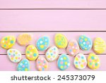 colorful cookies with polka...   Shutterstock . vector #245373079