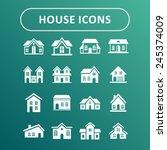 villa icons | Shutterstock .eps vector #245374009