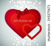 red paper hearts sticker with... | Shutterstock .eps vector #245375671