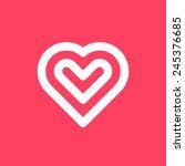white abstract valentine's... | Shutterstock .eps vector #245376685