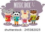 beasts musicians | Shutterstock .eps vector #245382025