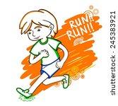 run boy color vector... | Shutterstock .eps vector #245383921