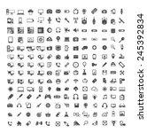 big set of coputer  coputer... | Shutterstock .eps vector #245392834