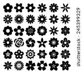 set of flower icons... | Shutterstock .eps vector #245399329