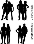people silhouettes   couples  | Shutterstock .eps vector #245404531