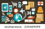 flat icons set for web and... | Shutterstock .eps vector #245409499