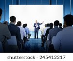 business people seminar... | Shutterstock . vector #245412217