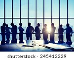 business people conference... | Shutterstock . vector #245412229